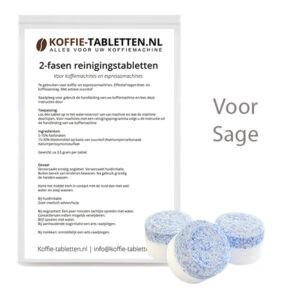 2-fasen reinigingstabletten voor Sage